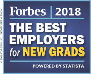 Forbes 2018: The Best Employers for New Grads #88